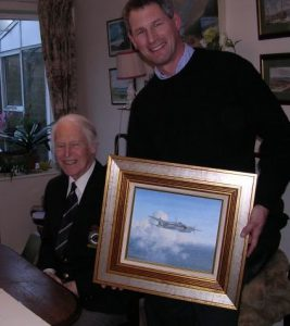 Nick with Wg Cdr Burbridge DSO* DFC*